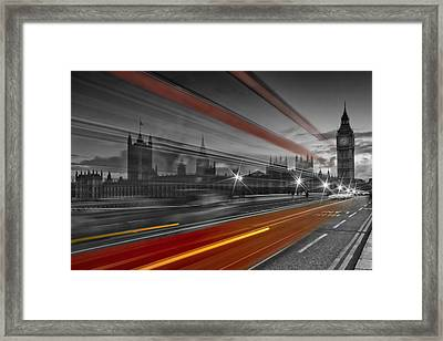 London Red Bus Framed Print by Melanie Viola