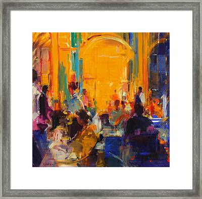 London Silver Service Framed Print by Peter Graham
