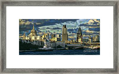 London Skyline Collection Framed Print by Marvin Blaine