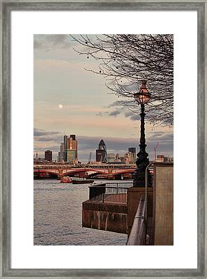 London Skyline From The South Bank Framed Print by Jasna Buncic