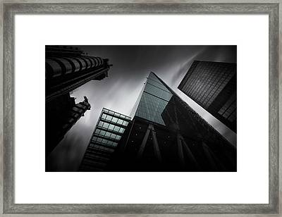 London Skyscrapers Framed Print by Ian Hufton