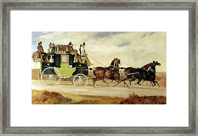 London To Bristol And Bath Stage Coach Framed Print by Charles Cooper Henderson