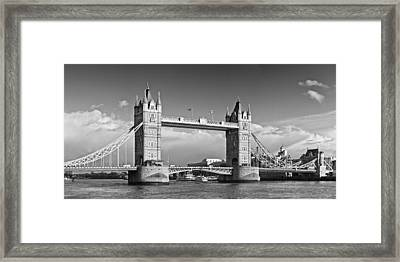 London Tower Bridge Monochrome Framed Print by Melanie Viola