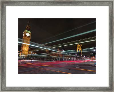 London Traffic Framed Print by Mark A Paulda
