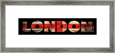 London Vintage British Flag Tee Framed Print by Edward Fielding