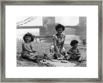 London's Seaside Framed Print by Chris Ware
