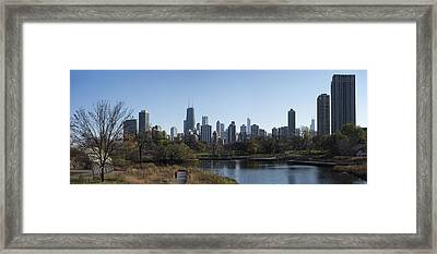 Lone Exerciser Of Lincoln Park - Chicago Framed Print by Daniel Hagerman