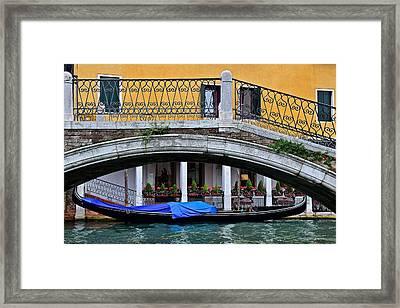 Lone Gondola Framed Print by Frozen in Time Fine Art Photography