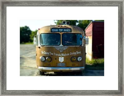 Lone Star Bus 4 Framed Print by John Gusky