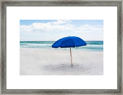 Lone Umbrella Framed Print by Shelby  Young