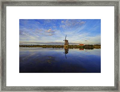 Lone Windmill Framed Print by Chad Dutson