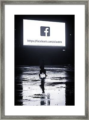 Lone Women Walking At Night Framed Print by John Williams