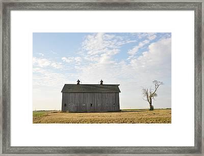 Lonely Barn Framed Print by Daniel Ness
