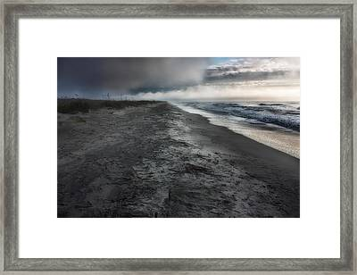 Lonely Beach Framed Print by Matt  Trimble