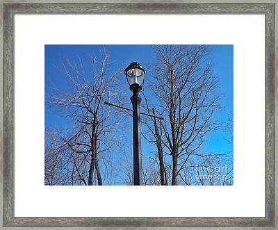 Lonely Lamp Post Framed Print by Deborah MacQuarrie