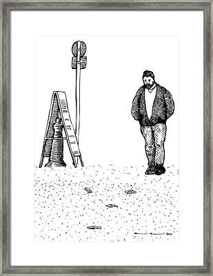 Lonely Man Framed Print by Karl Addison