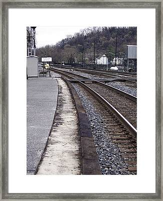 Lonely Train Tracks Framed Print by Donovan Hubbard