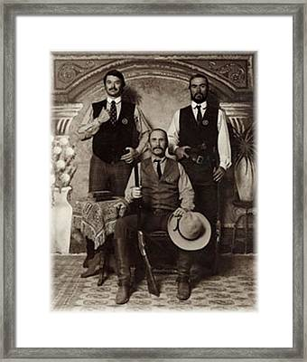 Lonesome Dove 3 Texas Rangers San Antonio Framed Print by Peter Nowell