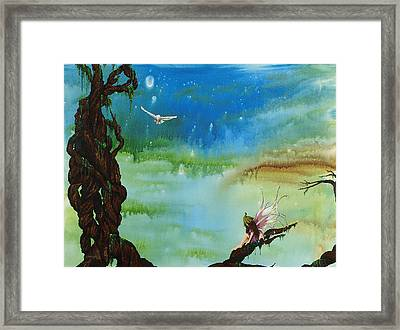 Lonesome Fairy Framed Print by Deborah Ellingwood
