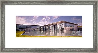 Long Exposure Panorama Of Museum Of Modern Art Of Fort Worth - Texas Framed Print by Silvio Ligutti