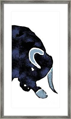 Long Horn Bull Phone Case Framed Print by Edward Fielding