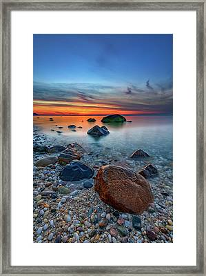 Long Island Sound At Dusk Framed Print by Rick Berk