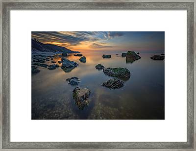 Long Island Sound Tranquility Framed Print by Rick Berk