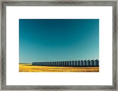 Long Line Of Bins Framed Print by Todd Klassy