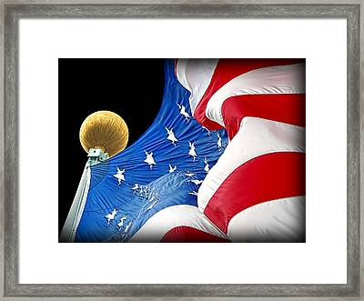 Long May She Wave The American Flag Framed Print by Jennie Marie Schell