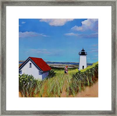 Long Point Light Two Framed Print by Laura Lee Zanghetti