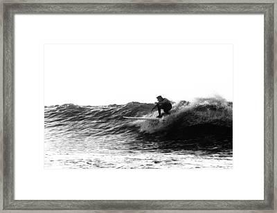 Longboard Framed Print by Rick Berk