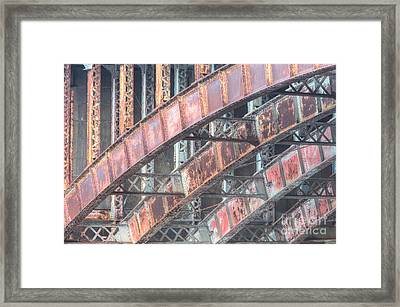 Longfellow Bridge Arches I Framed Print by Clarence Holmes