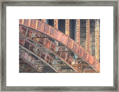 Longfellow Bridge Arches IIi Framed Print by Clarence Holmes