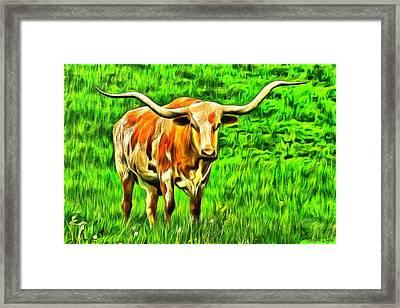Longhorn - Da Framed Print by Leonardo Digenio