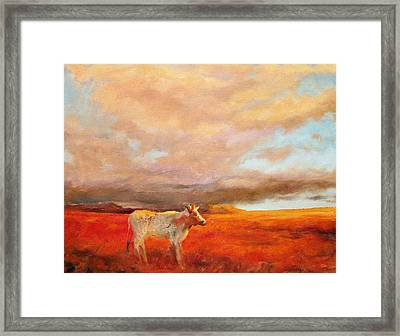 Longhorn Framed Print by Margaret Aycock
