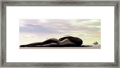 Longing Framed Print by Sandra Bauser Digital Art