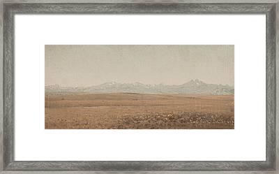 Longs Peak Colorado Framed Print by Sanford Robinson Gifford