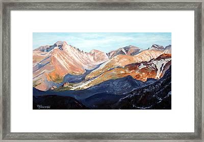 Longs Peak From Trail Ridge Road Framed Print by Mary Giacomini