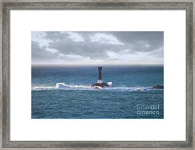 Longships Splash Framed Print by Terri Waters