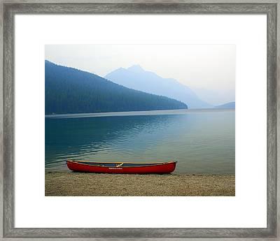 Lonly Canoe Framed Print by Marty Koch