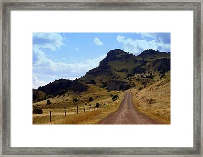 Lonly Road Framed Print by Marty Koch