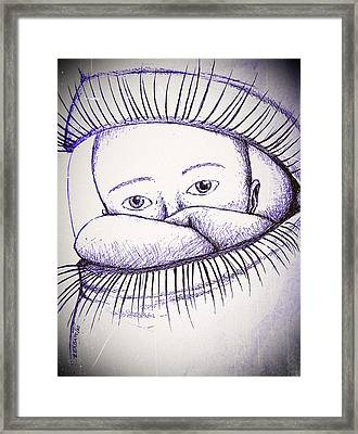 Look A Look Framed Print by Paulo Zerbato