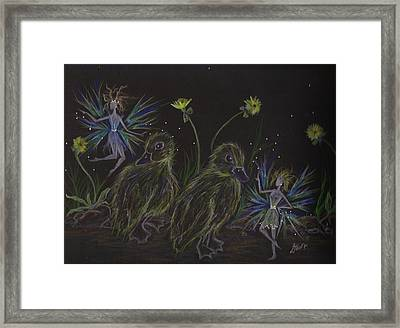 Look At Me When I'm Talking To You Stay Outta The Road Framed Print by Dawn Fairies