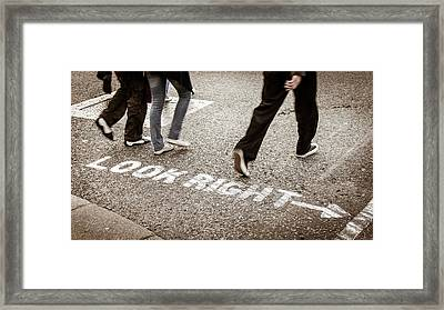 Look Right Framed Print by Michael Weber