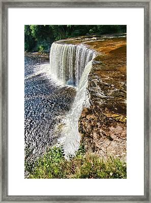 Looking Down On Tahquamenon Falls Framed Print by Dan Sproul