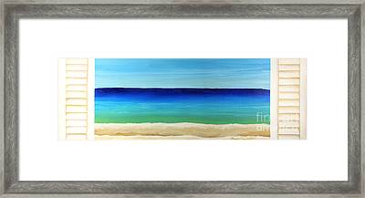 Looking Out At The Sea Framed Print by Robyn Saunders