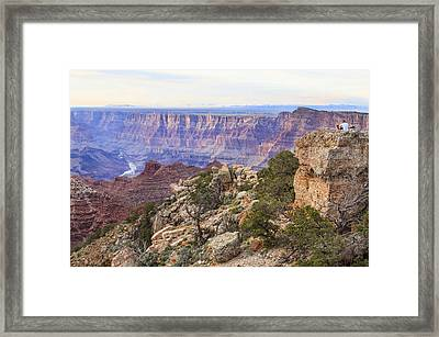 Looking Out From Lipan Point Framed Print by Jessica Velasco