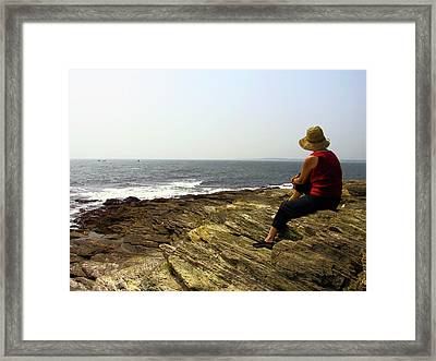 Looking Out To Sea Framed Print by Frank Winters