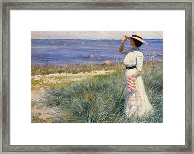 Looking Out To Sea Framed Print by Paul Fischer