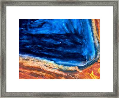 Looking Over The Edge  Framed Print by Owl's View Studio